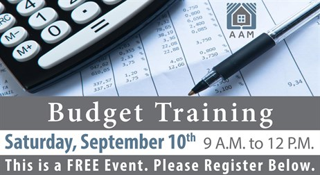 Budget Training Email